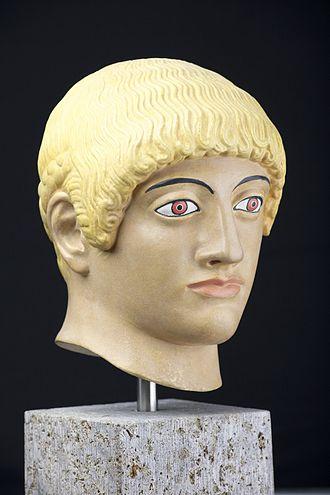 Blond Kouros's Head of the Acropolis - Image: Blonder Kopf von der Akropolis 2