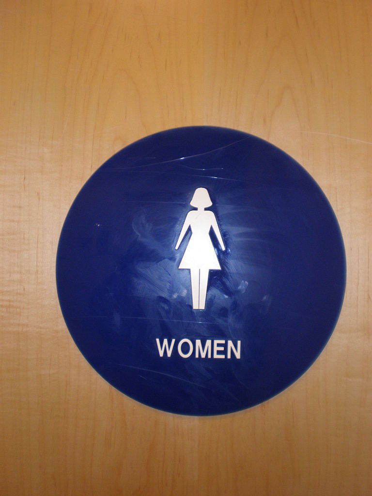 Bathroom Signs Circle And Triangle file:blue plastic circle female restroom sign - wikimedia commons