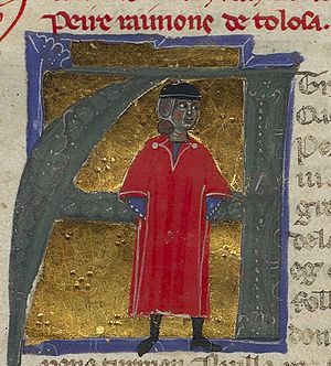 Peire Raimon de Tolosa - Miniature depiction of Peire Raimon de Tolosa