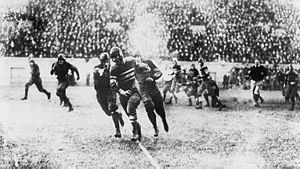 1921 College Football All-Southern Team - Bo McMillin of Centre running on Harvard.