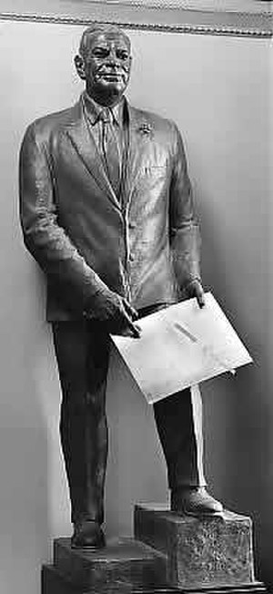 Felix de Weldon - Bronze of Senator Bob Bartlett in the National Statuary Hall