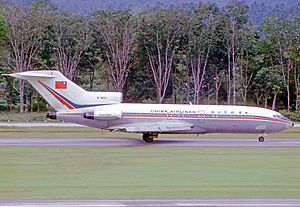 China Airlines - China Airlines Boeing 727-109C at Singapore International Airport in 1974