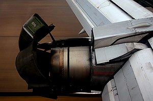 LAPA Flight 3142 - A Boeing 737-200 during landing with its thrust reversers deployed and the flaps extended