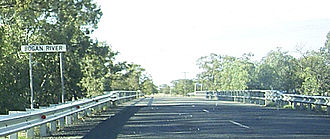 Bogan River - A crossing of the Bogan River on the Dandaloo-Trangie Road, pictured in 2009.