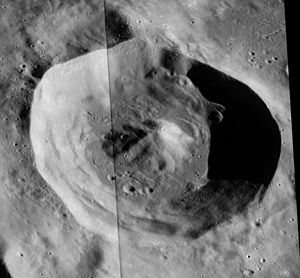 Bok (lunar crater) - Apollo 17 panoramic camera mosaic