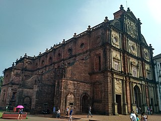 Basilica of Bom Jesus Church in Velha Goa, India