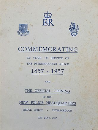 Liberty of Peterborough Constabulary - Booklet 100 years of Peterborough Police.