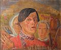 Boris Grigoriev - self portrait with chicken and rooster (1922-24, priv. coll).jpg