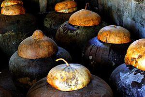 Ilocos Norte - Bagoong fermenting in burnay jars