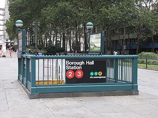 New York City Subway station in Brooklyn, New York