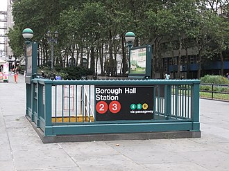 Court Street–Borough Hall (New York City Subway) - Image: Borough Hall Stair