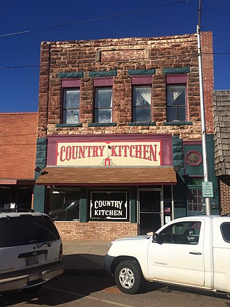 National Register of Historic Places listings in Lincoln County, Oklahoma - Image: Boston Store Chandler Ok