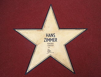 "Hans Zimmer - Zimmer's Star on the ""Boulevard der Stars"" in Berlin"