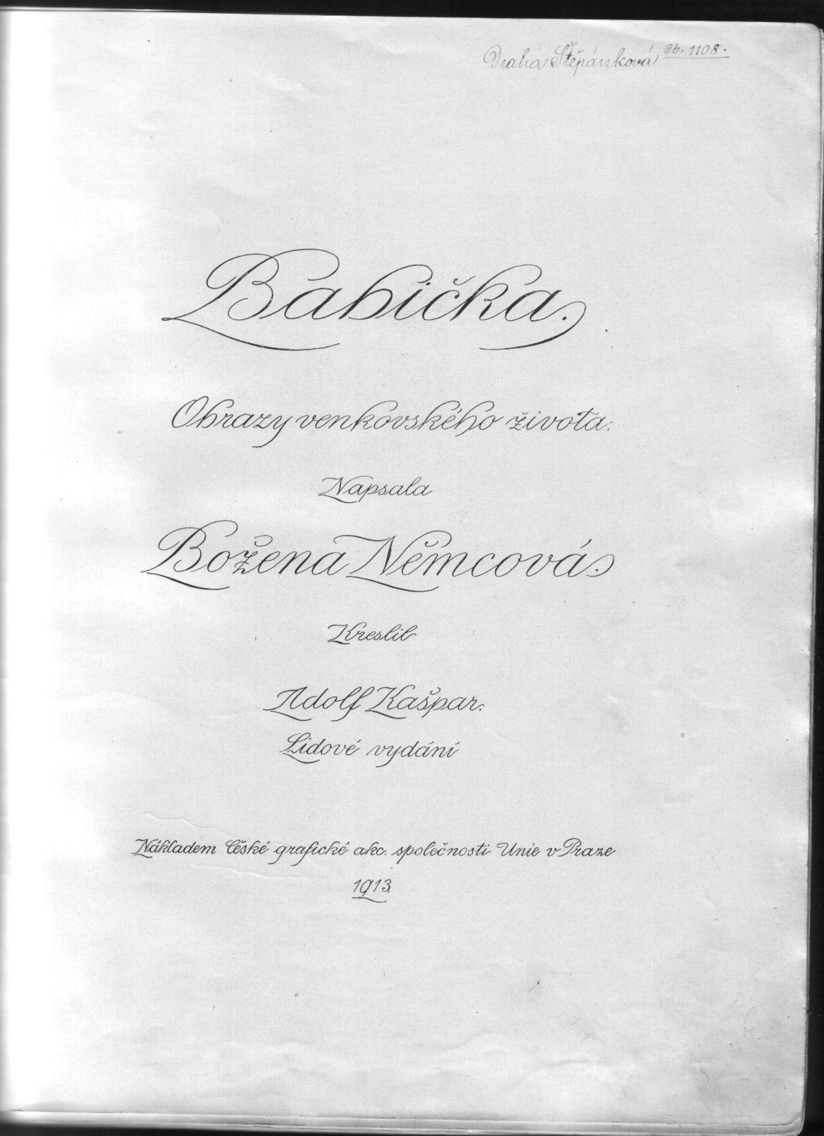 Babička (kniha) – Wikipedie 6fd89cf097
