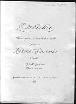 Bozena Nemcova Babicka 1913.jpg