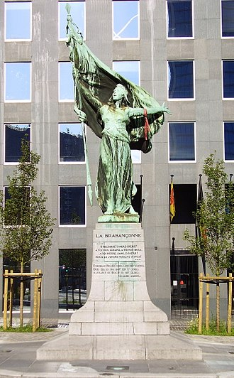 La Brabançonne - The Brabançonne monument in Brussels