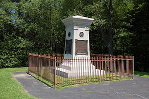 Fort Necessity National Battlefield - The grave of General Edward Braddock.