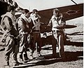 Brazilian fighter pilots before taking off for combat Italy WWII.jpg