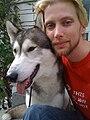 Breki Tomasson and his dog Locke.jpg