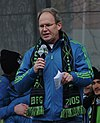 Brian Schmetzer at Sounders Victory Rally, 2016.jpg