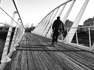 Martin Goodman Trail - Image: Bridge over Mimico Creek, Ontario b