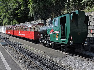Brienz railway station - Image: Brienz Rothorn Bahn (BRB) Brienz BRB Talstation 2016 08 11 16 00 18
