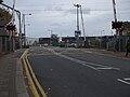 Brimsdown station level crossing look east.JPG
