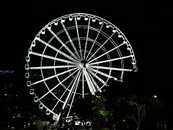 A Wheel of Brisbane éjjel