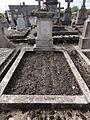 Brissy-Hamégicourt (Aisne) cimetière d'Hamégicourt, tombe soldat 1914-18.JPG