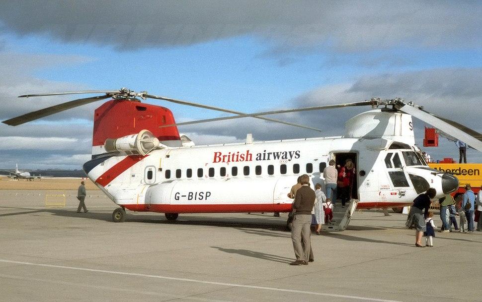 British Airways Helicopters Boeing 234 G-BISP