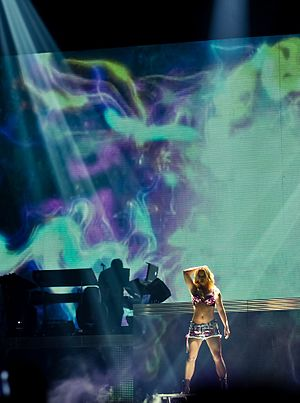 "Womanizer (song) - Spears performing ""Womanizer"" at the Femme Fatale Tour."