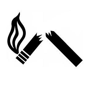 Broken cigarrette