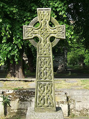 Celtic knot - Stone Celtic crosses, such as this, are a major source of knowledge regarding Celtic knot design.