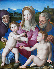 La Sainte Famille avec sainte Anne et le petit saint Jean-Baptiste