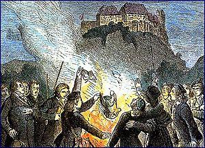 Wartburg Festival - Book burning after the Wartburg festival