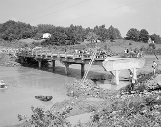 U.S. Route 29 in Virginia - This bridge carried Route 29 across the Buffalo River until its destruction by Hurricane Camille in 1969.