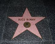 Bugs Bunny's star on the Hollywood Walk of Fame