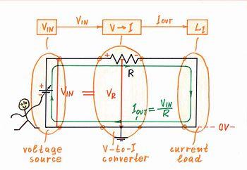 Circuit Idea/Passive Voltage-to-Current Converter - Wikibooks, open