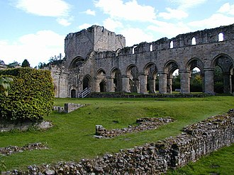 History of Shropshire - The ruined remains of Buildwas Abbey.