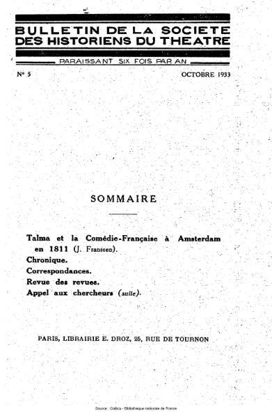 File:Bulletin de la société des historiens du théâtre, année 1, n°5.djvu