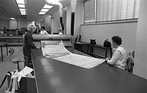 Technical drawing - Copying technical drawings in 1973
