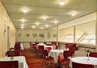 LZ 129 Hindenburg - Dining room