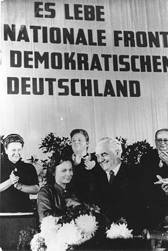 Margot Honecker - Honecker congratulates Wilhelm Pieck on his election as the first GDR President in 1949.