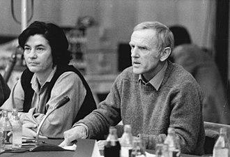 Günter de Bruyn - Christa Wolf and Günter de Bruyn 1981 at the Berliner Begegnung zur Friedensförderung