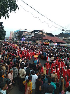 Buon Natale Annual Christmas procession in the city of Thrissur, Kerala