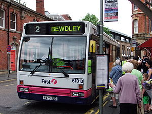 First Midland Red - Plaxton Verde bodied Dennis Lance in Kidderminster in June 2011