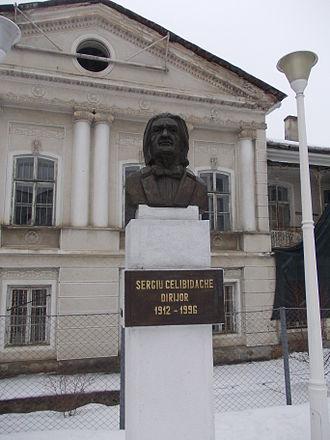 Sergiu Celibidache - Bust of Sergiu Celibidache at his hometown in Roman