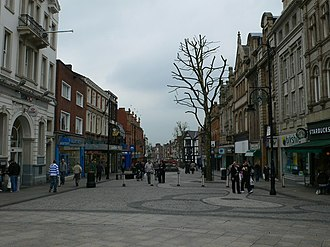 Warrington - Bridge Street, one of the main shopping streets in Warrington.