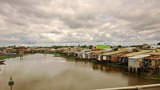 Kiến Tường Town in Long An, Vietnam