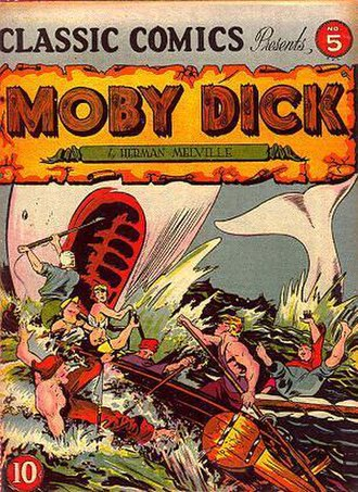 Harvey Kurtzman - Kurtzman assisted on the Classics Illustrated version of Moby Dick in 1942 as his first assignment at Louis Ferstadt's studio.